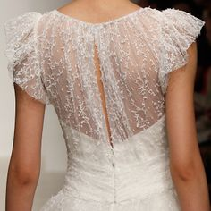 Wedding Dress Detail: Meadow, Christos. Click through to see more lace wedding dresses.