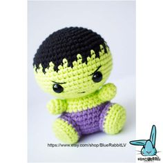 Check out this item in my Etsy shop https://www.etsy.com/ru/listing/517107909/incredible-hulk-crochet-amigurumi-toy