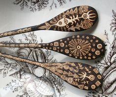 custom 3 spoon set by burnedfurniture on Etsy, $100.00