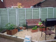 From my own garden. 'After' picture of the fence, painted with Cuprinol garden shades in Jasmine and Willow.