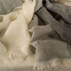 Muted colors of beige, grey and taupe reflecting the colors of the Chianti Cashmere Goat breed. www.chianticashmere.com