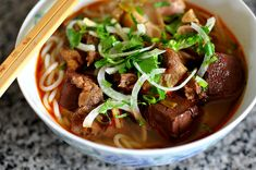 A step-by-step guide to mastering my grandma's Bún Bò Huế, Vietnamese Beef & Lemon Grass Noodle Soup.