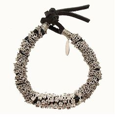 Thick Rhinestone Suede Roll Bracelet - Black in raspberrysbox 's store on Consignd - $60.00