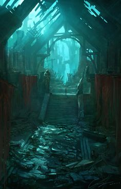 Welcome to the Mountain, leave your shoes outside! - artissimo:   ruins by zhiyong li Digital Art...