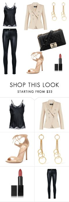 """OOTD#1"" by marie-de on Polyvore featuring mode, Gold Hawk, Balmain, Gianvito Rossi, Chanel, Marni, NARS Cosmetics et Versace"
