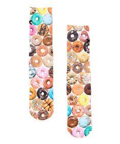 Another great find on #zulily! Brown & Pink Doughnuts Socks - Unisex #zulilyfinds