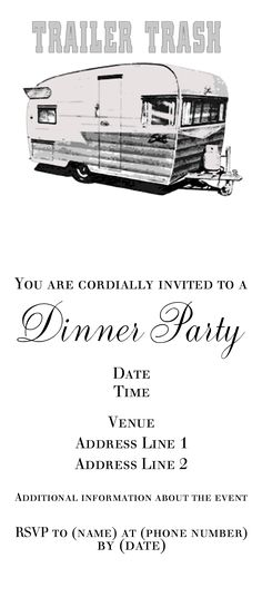 Trailer Trash Invitations
