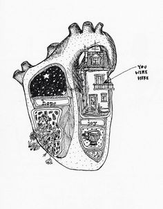 Art and illustrations of the human anatomy. Heart Art, Art Plastique, Art Inspo, Cool Art, Art Drawings, Music Drawings, Art Photography, Illustration Art, Landscape Illustration
