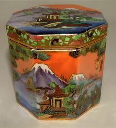Ceramic Chinaland Octagonal Trinket Cigarette Box – W&R Carlton Ware