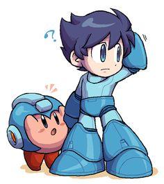 Where's my helmet? Kirby & MegaMan