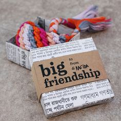 giant friendship bracelet. This is so cool! Love the box, too!