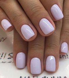 To Paint Your Nails Like A Pro Wonderful light purple nail polishWonderful light purple nail polish Light Purple Nails, Purple Nail Polish, Nail Polish Colors, Light Colored Nails, Polish Nails, Ten Nails, Manicure, Short Nail Designs, Classy Nails