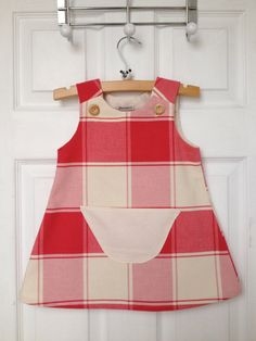 Toddler Girls Pinafore Dress 2 years 24 months by JuniperGifts
