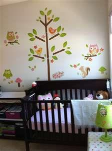 owl nursery idea - all stickers?  Easy to remove?