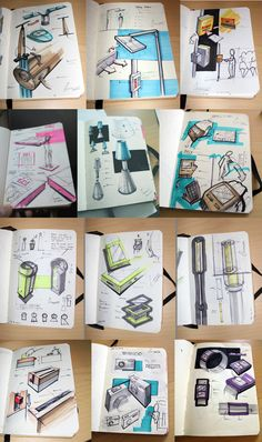 Industrial design marker sketches