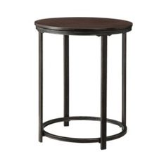 Accent Table Wood and Metal