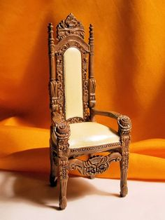 """""""Dollhouse Gothic Chair  Medieval Chair  Doll by Louisianaminis"""" Etsy"""