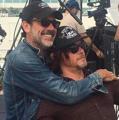 #We_Are_TWD. Jeffrey and Norman. They are in love. What kind? That I don't know, but it's powerful.