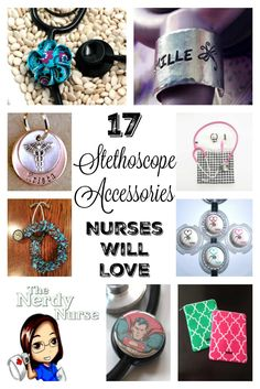Every nurse is unique and should have a way to make their uniform their own - even if we all wear the same colors - these stethoscope accessories can do just that. Share with your nursing friends! 17 Stethoscope Accessories Nurse Will Love  Pin now - read later!