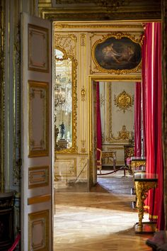 A peek behind closed doors at Le Chateau de Versailles, France. Description from pinterest.com. I searched for this on bing.com/images