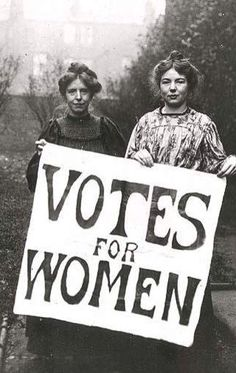 Votes for women all the time and all the way