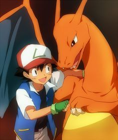 ash and charizard fan art - Google Search
