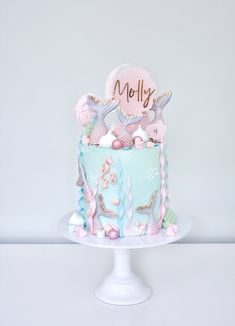 The Whimsical Cakery offers a range of modern and traditional wedding cakes with intricate sugar flower work from our Northamptonshire-based studio. Mermaid Birthday Cakes, Mermaid Cakes, Baby Birthday Cakes, Traditional Wedding Cakes, Luxury Wedding Cake, Sea Cakes, Girl Birthday Decorations, Buttercream Cake, Crazy Cakes