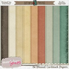 So Blessed is perfect for scrapping all the blessings in your life. Filled with soft colors and beautiful elements, this kit will be one to ...