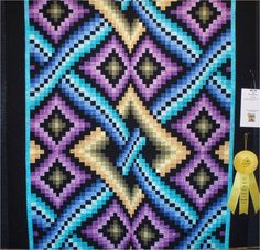Bargello Quilt by Beverly Hasslinger, Arizona Quilters Guild 2011, photo by Quilt Inspiration.  Design by Dereck Lockwood