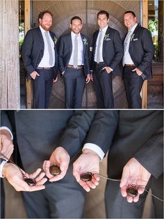 Groomsmen details with custom engraved pocket watches
