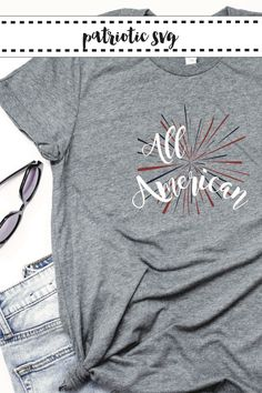 Be ready for summer fun with this darling All American shirt DIY from Everyday Party Magazine #AllAmerican #Patriotic #DIY #SVG #CraftLightning