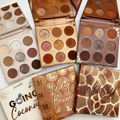 """Makeup Just For Fun's Instagram profile post: """"How do you like to neutral? 🥥Going Coconuts🥥 • 💰Lucky Penny💰 • 🦒Wild Child🦒 • These lil @colourpopcosmetics 9 pan palettes stay at the top…"""""""
