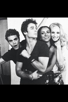Paul, Ian, Kat, and Candice  (Stefan, Damon, Bonnie, and Caroline)