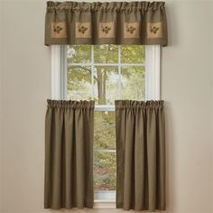 Pineview Lined Patch Curtain Valance 60 x 14