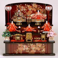 ひな人形 (pray for the healthy growth of girls on March 3, decorate doll)  ---------- #japan #japanese #matsuri