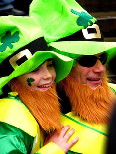 St Patrick/'s Day Vert Irlandais Shamrock 4 LEAF CLOVER 3D Paillettes Tête Boppers Fun