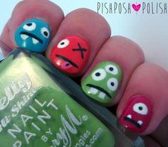 DIY Halloween Nails : PishPosh and Polish