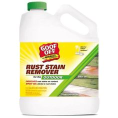 Goof Off 128 oz. Rust and Stain Remover-GSX00101 - The Home Depot