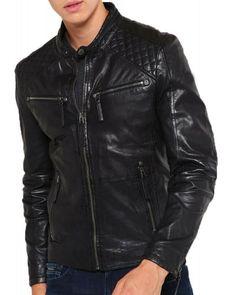 Zafy Leather Mens Leather Jackets Black