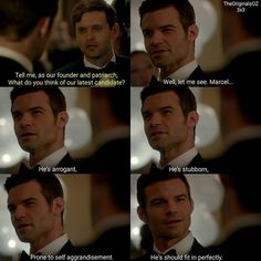 #TheOriginals #3x04 - Elijah and Tristan