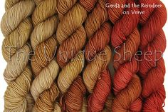 Color wave MKAL-er has selected for her own Solar Flare Circular Shawl: Gerda and the Raindeer (shown on Verve)