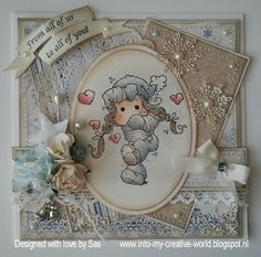 Cards made by Sas:  I just love this darling card!!
