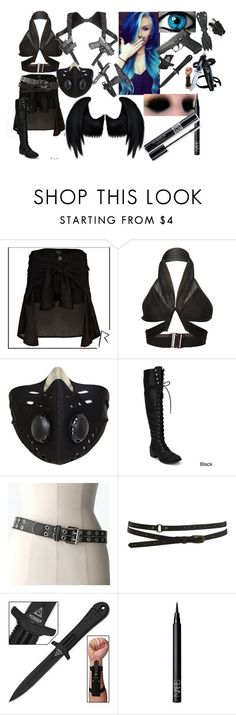 """""""outfit #28 (eyeless)"""" by eyeless-angel-of-death ❤ liked on Polyvore featuring River Island, Anthony Vaccarello, Dickies, Relic, Warehouse, NARS Cosmetics and Christian Dior"""