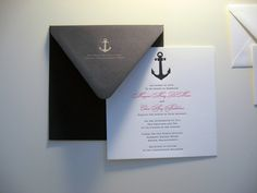 nautical wedding invitation.  The more and more I pin, the more I realize Jimmy will have no say in our wedding.