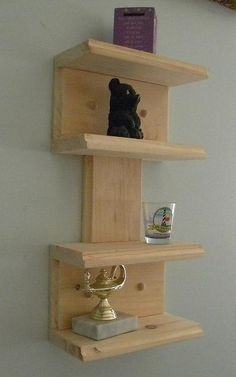 Retro mini wall shelf