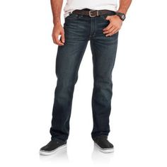 Faded Glory Men's Straight Fit Jeans, Size: 40 x 32, Gray