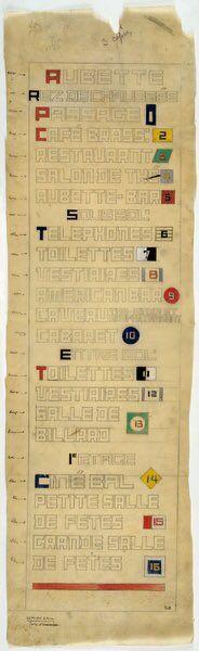 Theo van Doesburg's typography for Café Aubette, Strasbourg (1927). @typechap  #cuisine  via @wayneford