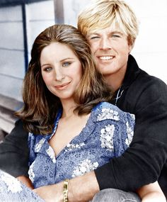 The Way We Were - Promo shot of Barbra Streisand & Robert Redford Movie Couples, Famous Couples, Barbra Streisand Robert Redford, 1970s Movies, Sundance Kid, Hooray For Hollywood, Preppy Men, Best Songs, Famous Faces