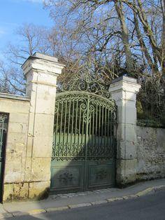Amboise (Loire Valley), France – Gate of Chateau du Clos Luce, home of Leonardo de Vinci, built in 1471, Leonardo moved in 1516.