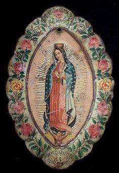 Nuestra Señora de Guadalupe, 19th century image on metal